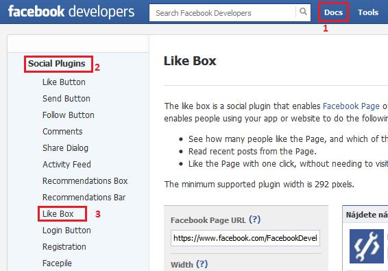 how to add like box